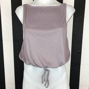 5 for $25 Silence + Noise Mauve Ribbed Crop Tank
